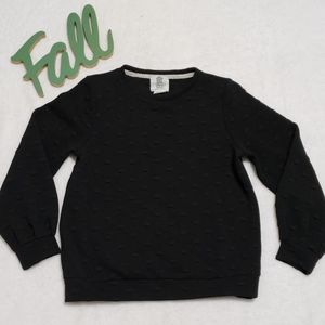 LILI'S CLOSET ANTHRO black textured sweatshirt